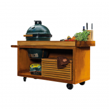 OFYR Kamado Table PRO Teak Wood BGE
