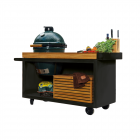 OFYR Kamado Table PRO Black Teak Wood BGE