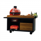 OFYR Kamado Table PRO Black Teak Wood KJ
